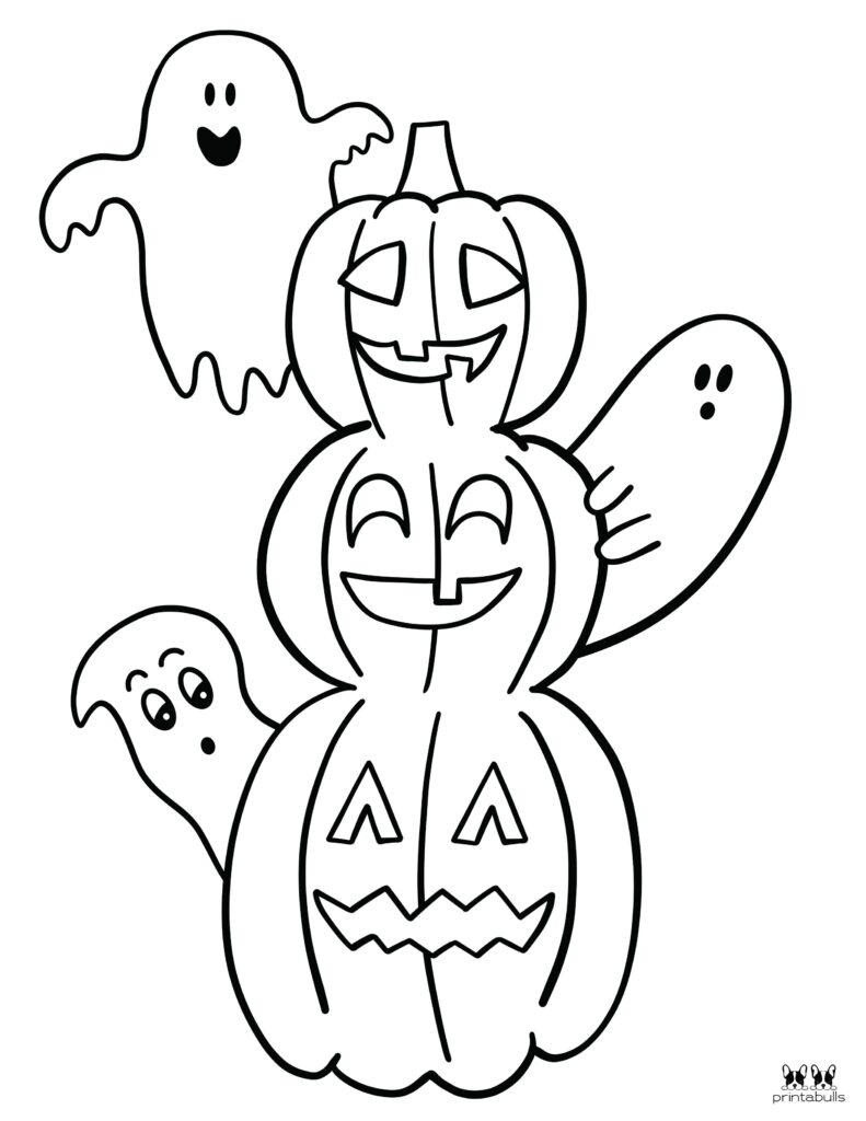 Printable Halloween Ghost Coloring Page-Page 8
