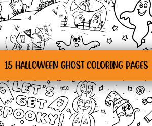 printable ghost coloring pages