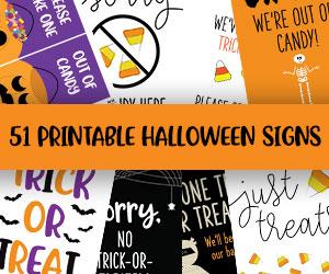 printable halloween signs