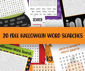 printable halloween word searches
