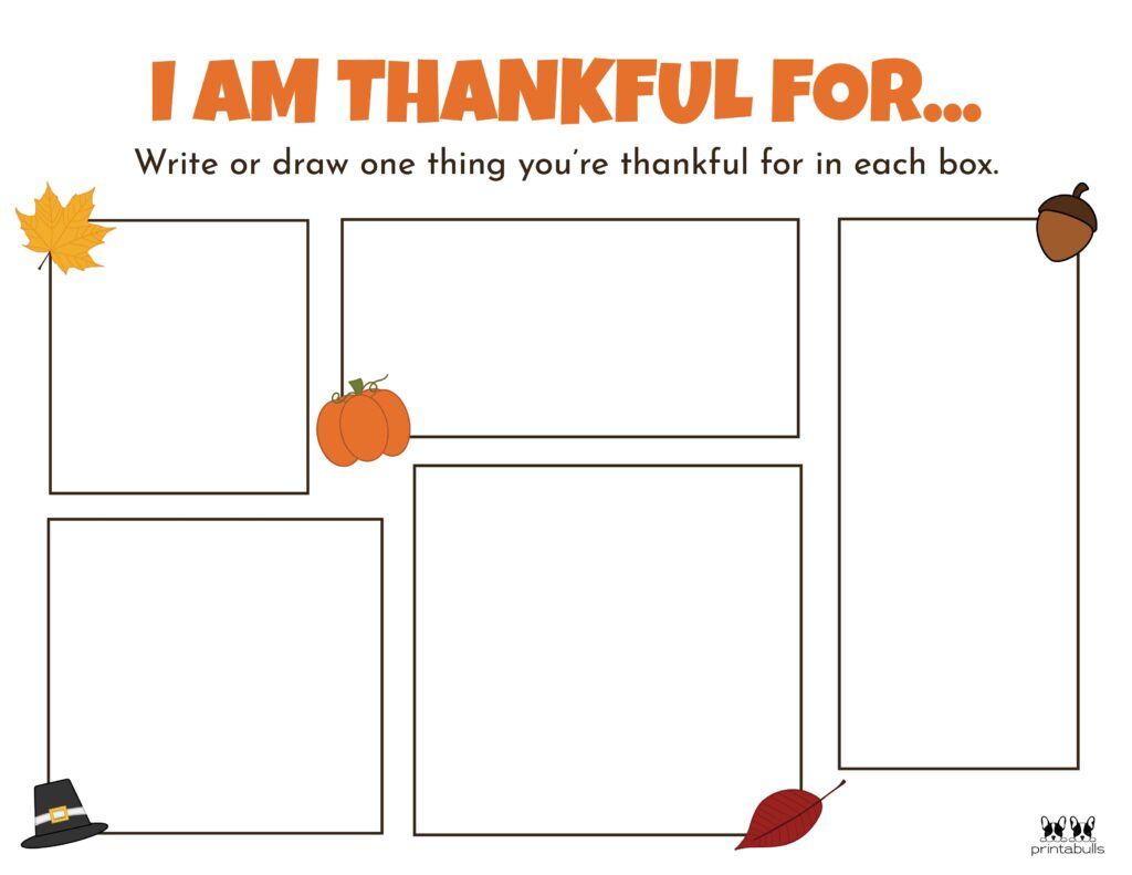 Printable I Am Thankful Worksheet_Page 2