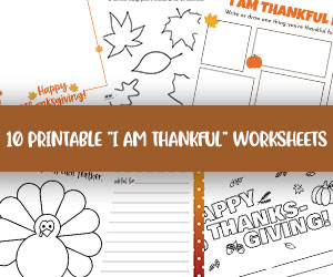 printable i am thankful for pages