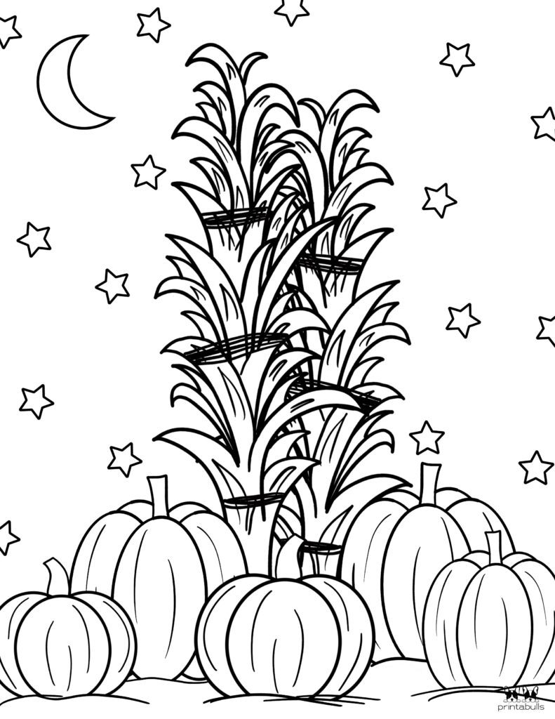Printable Pumpkin Coloring Page-Page 1