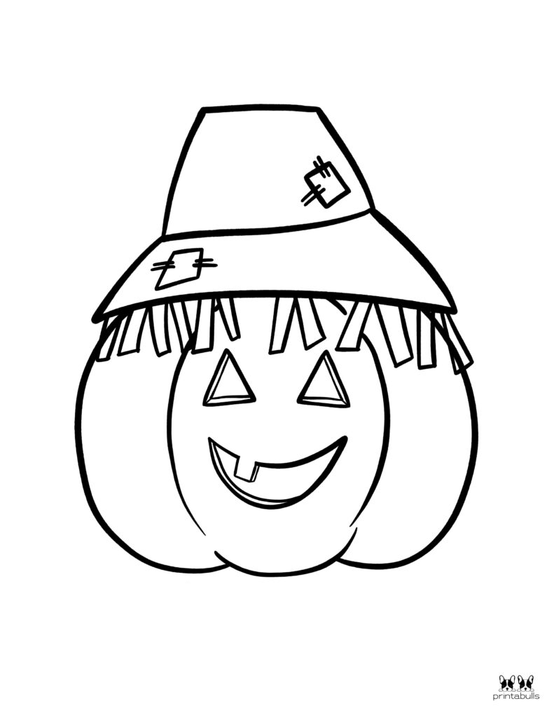 Printable Pumpkin Coloring Page-Page 11