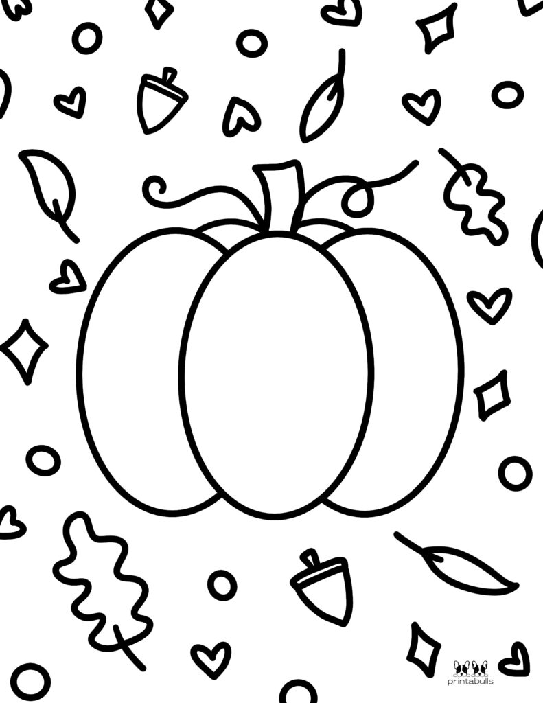 Printable Pumpkin Coloring Page-Page 12