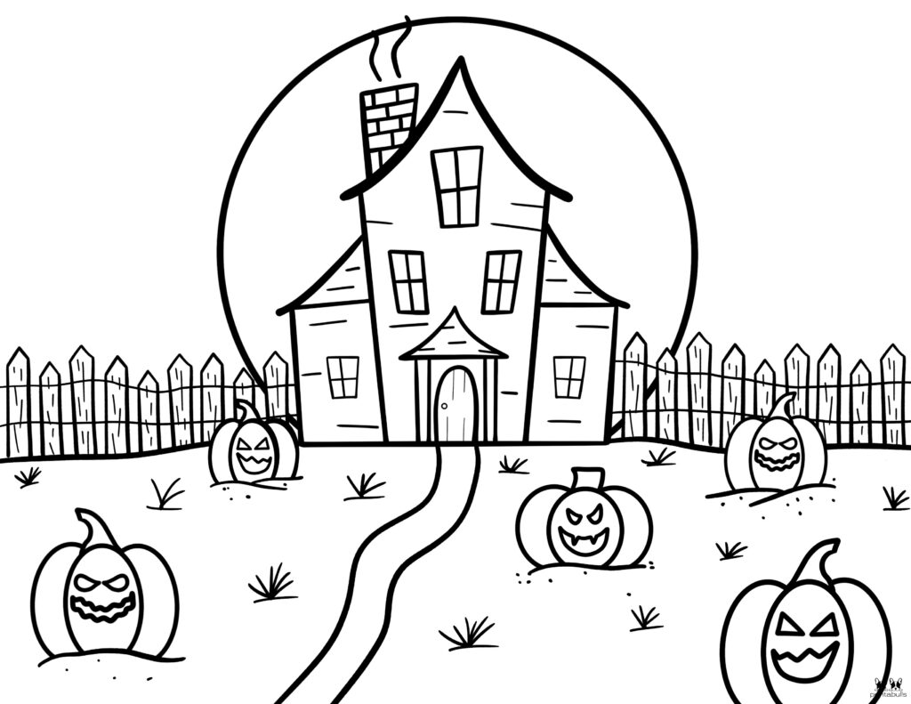 Printable Pumpkin Coloring Page-Page 14