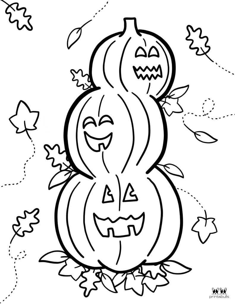 Printable Pumpkin Coloring Page-Page 17