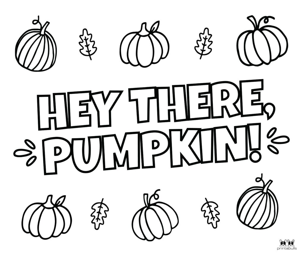 Printable Pumpkin Coloring Page-Page 19