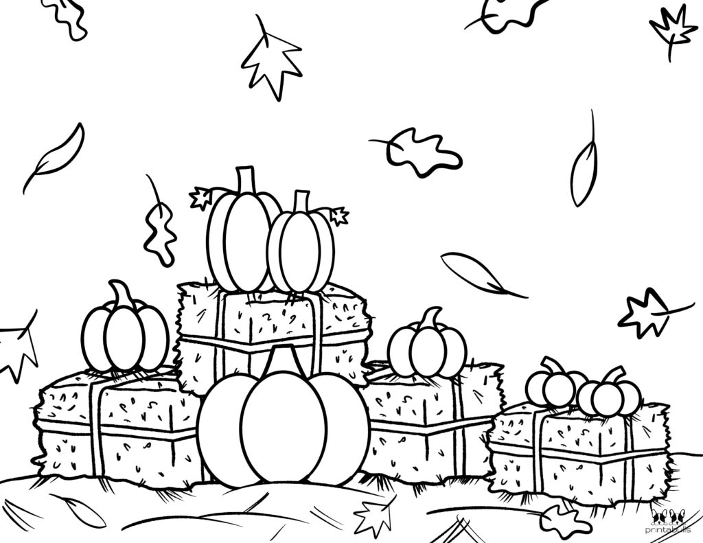 Printable Pumpkin Coloring Page-Page 22