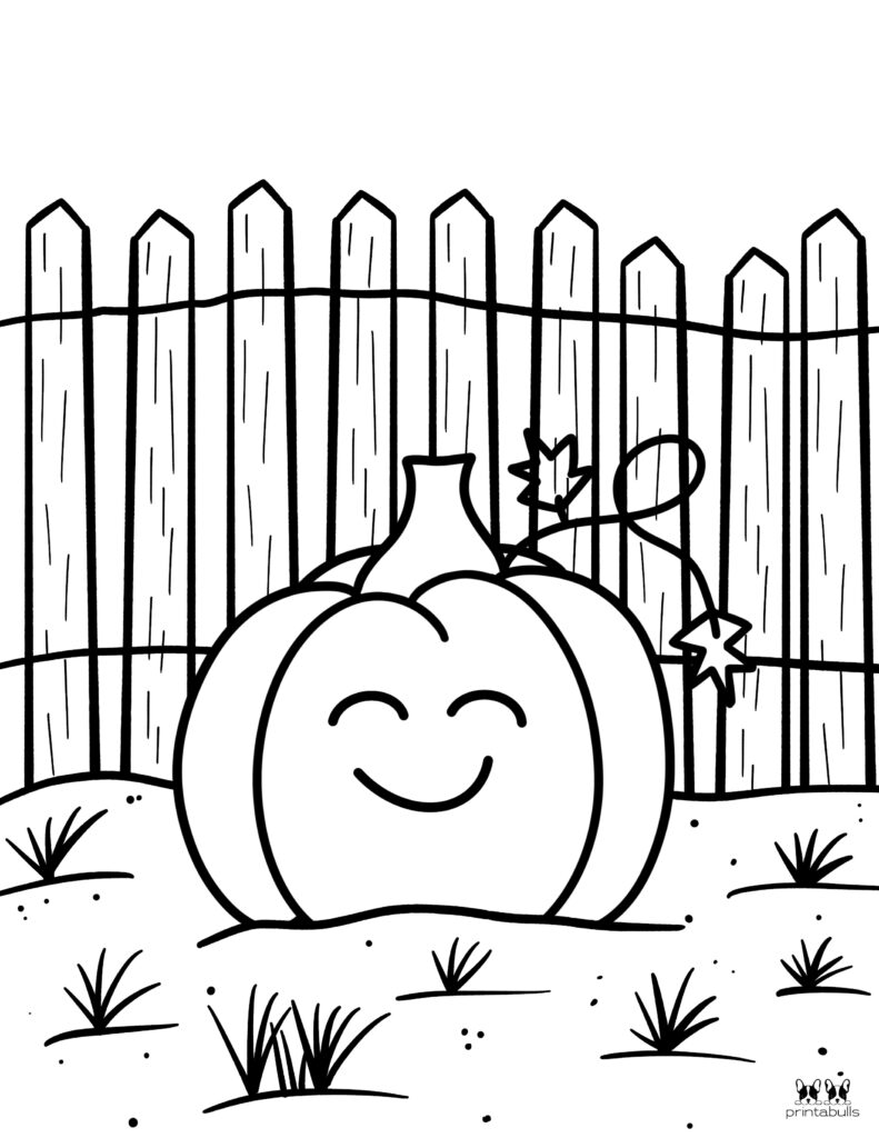 Printable Pumpkin Coloring Page-Page 23
