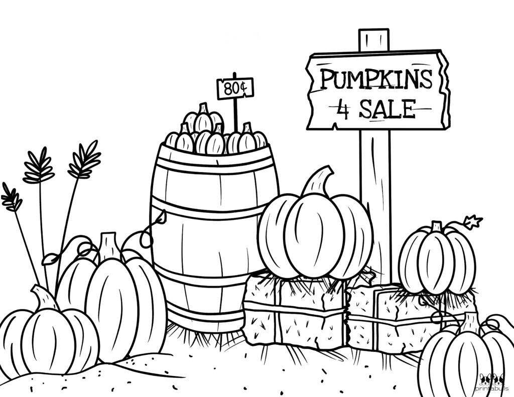 Printable Pumpkin Coloring Page-Page 24