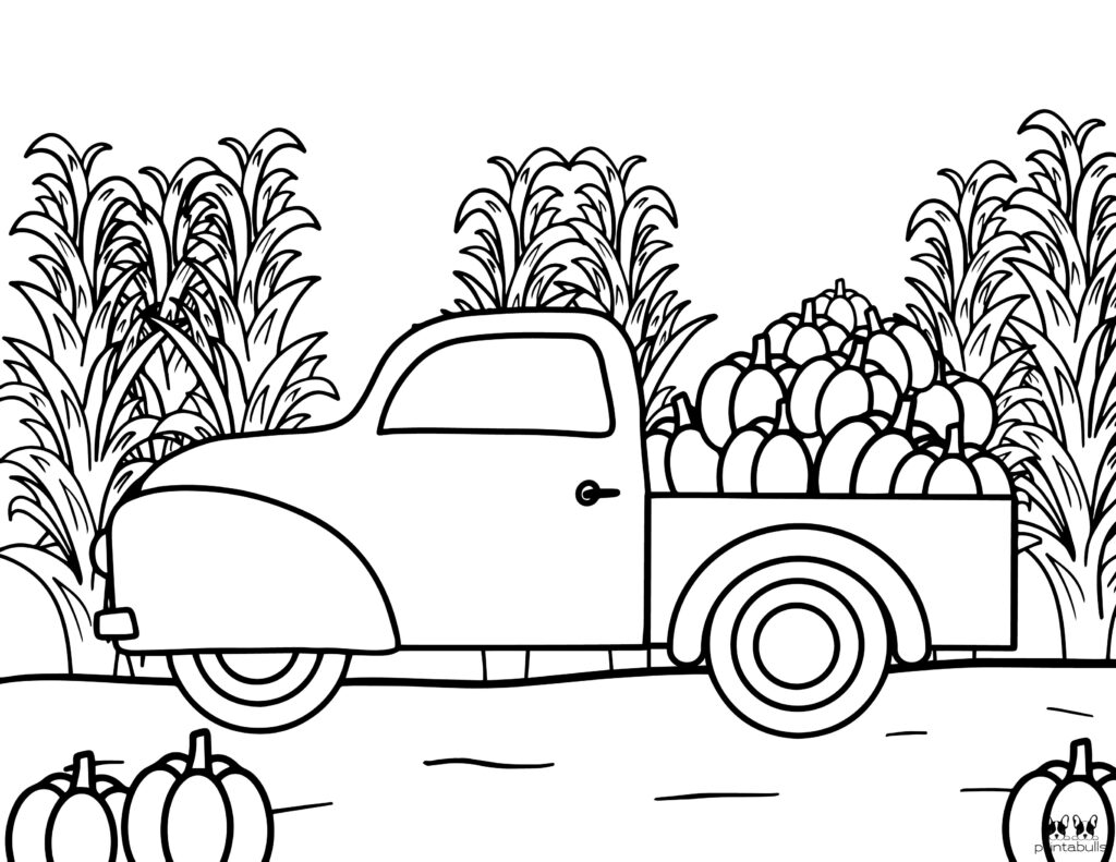 Printable Pumpkin Coloring Page-Page 25
