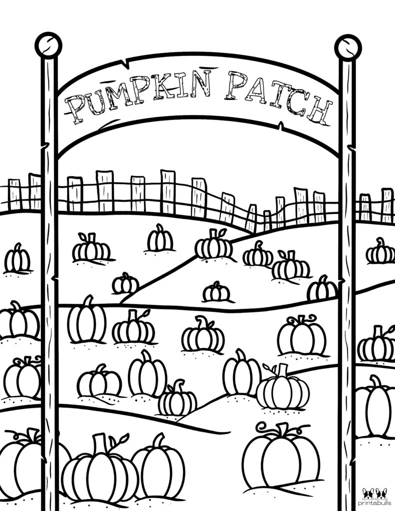 Printable Pumpkin Coloring Page-Page 3