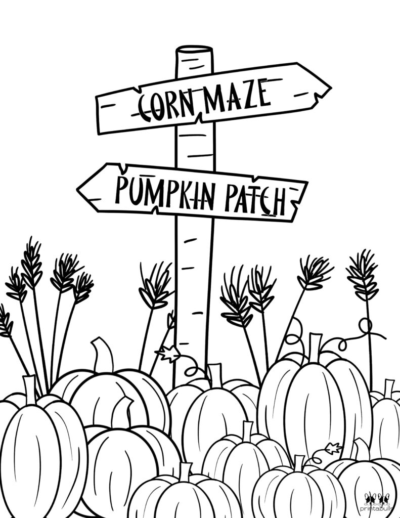 Printable Pumpkin Coloring Page-Page 9