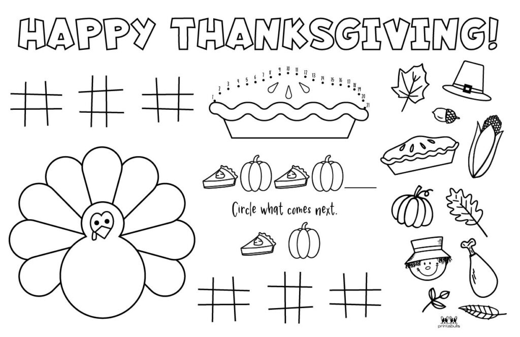 Printable Thanksgiving Placemat-Page 1