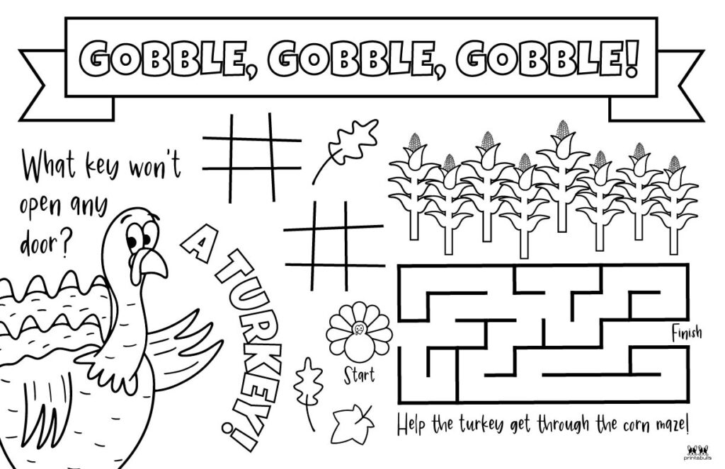Printable Thanksgiving Placemat-Page 3