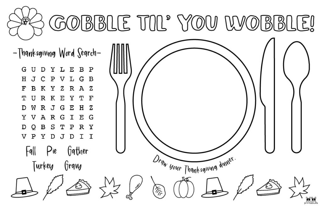 Printable Thanksgiving Placemat-Page 5