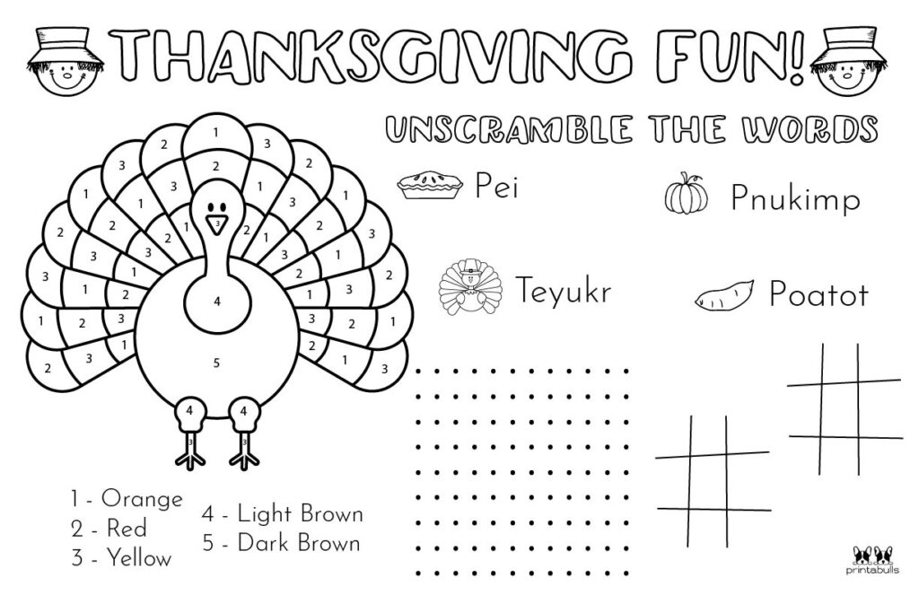 Printable Thanksgiving Placemat-Page 6