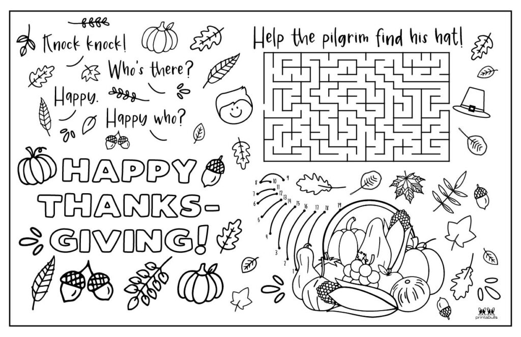 Printable Thanksgiving Placemat-Page 8