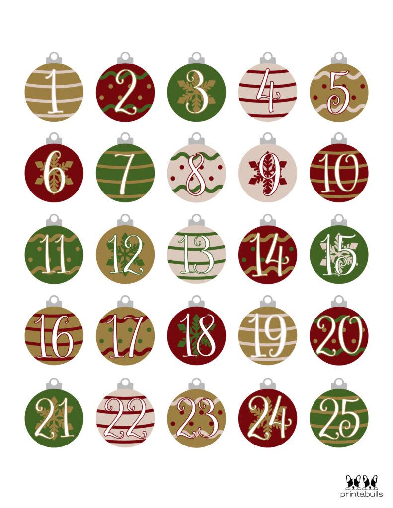 Printable Christmas Number Set-Set 10