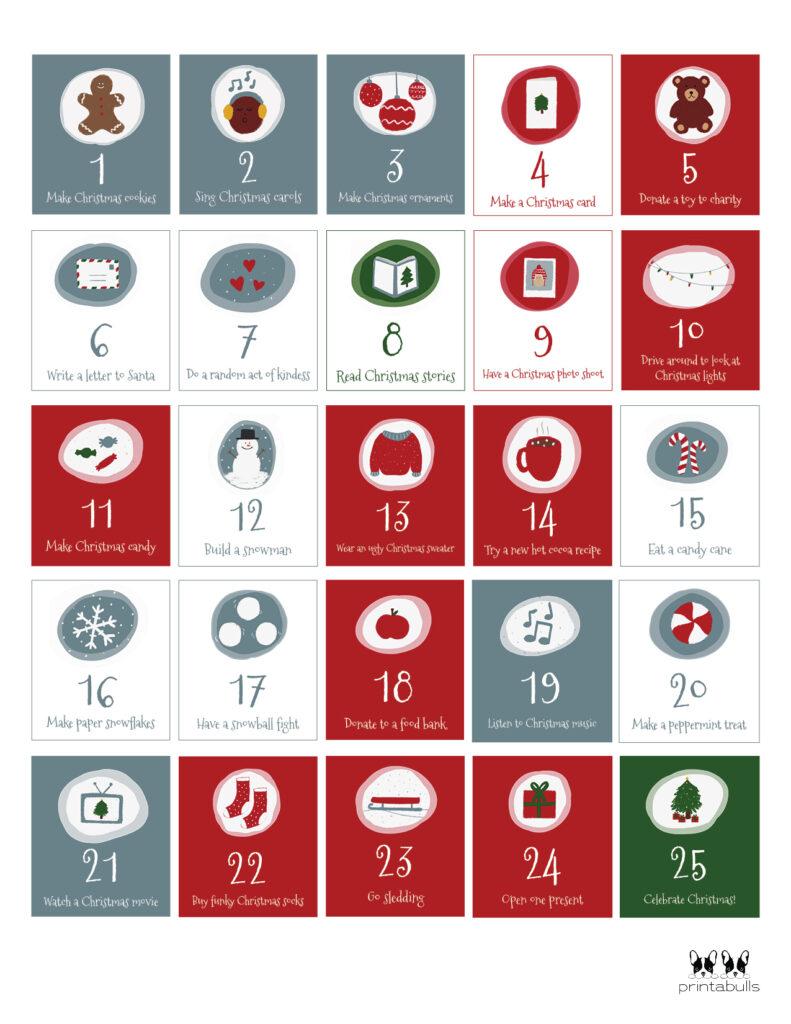Printable Christmas Number Set-Set 2