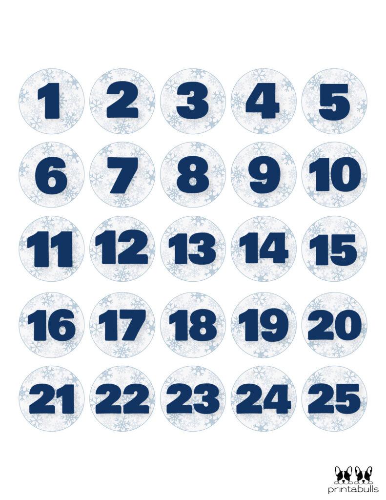 Printable Christmas Number Set-Set 3