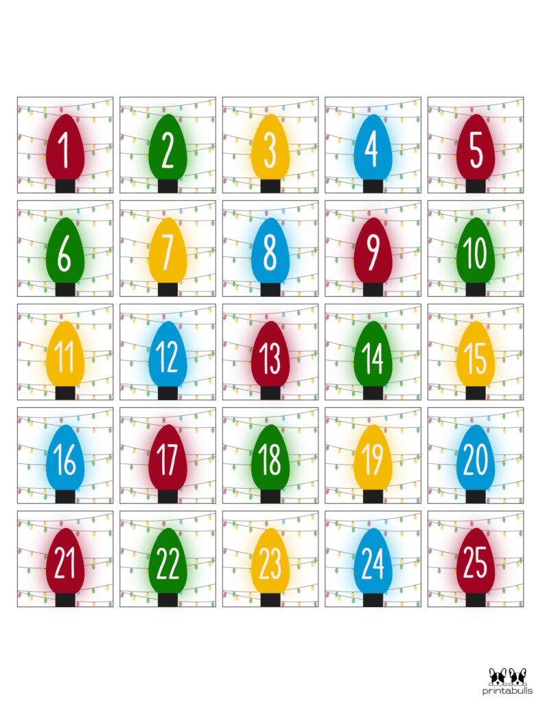 Printable Christmas Number Set-Set 4