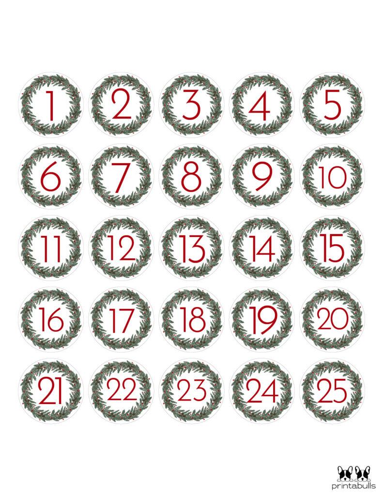 Printable Christmas Number Set-Set 5