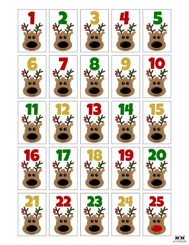 Printable Christmas Number Set-Set 6