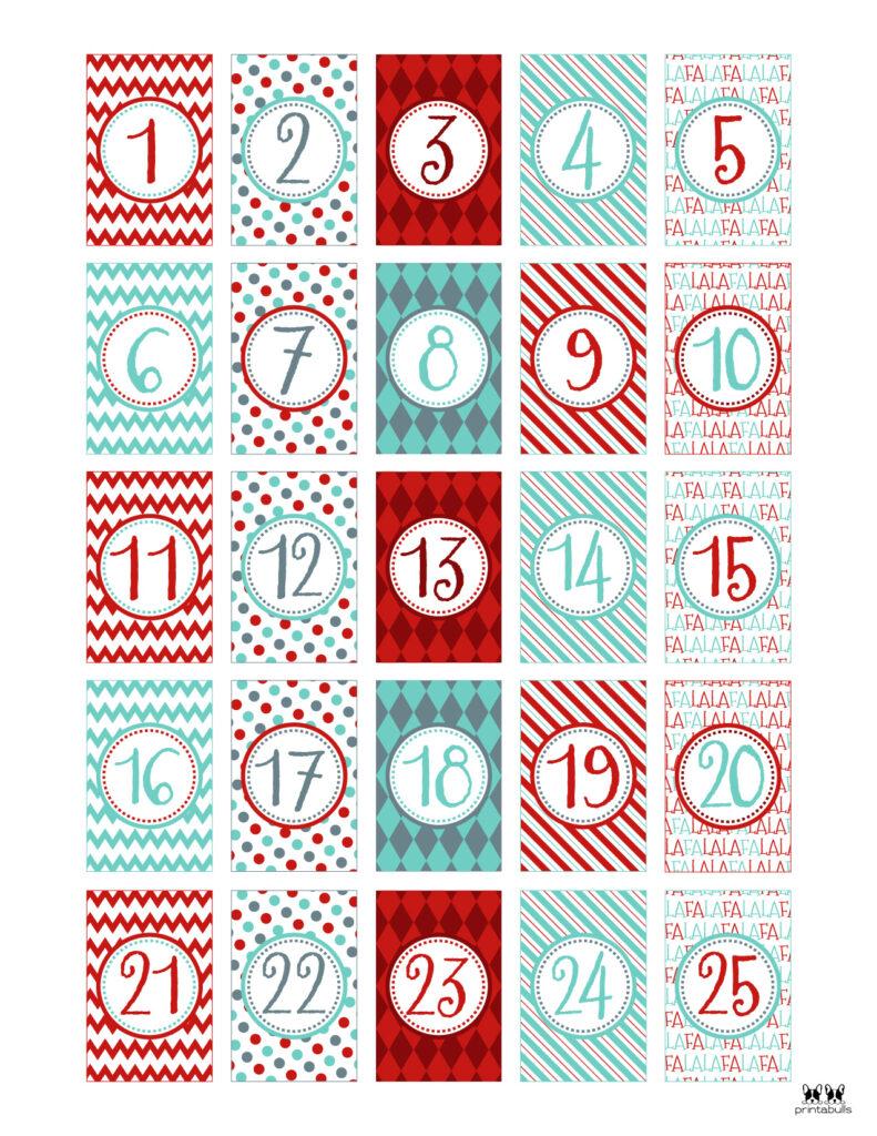 Printable Christmas Number Set-Set 7