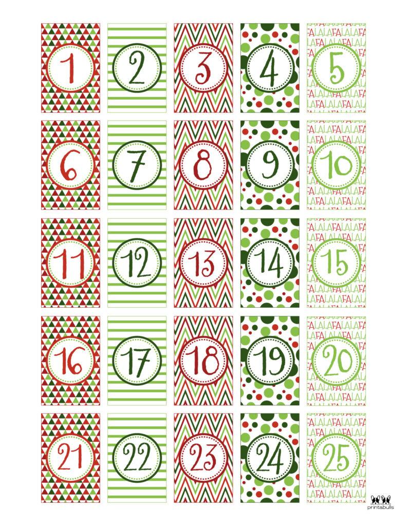 Printable Christmas Number Set-Set 8