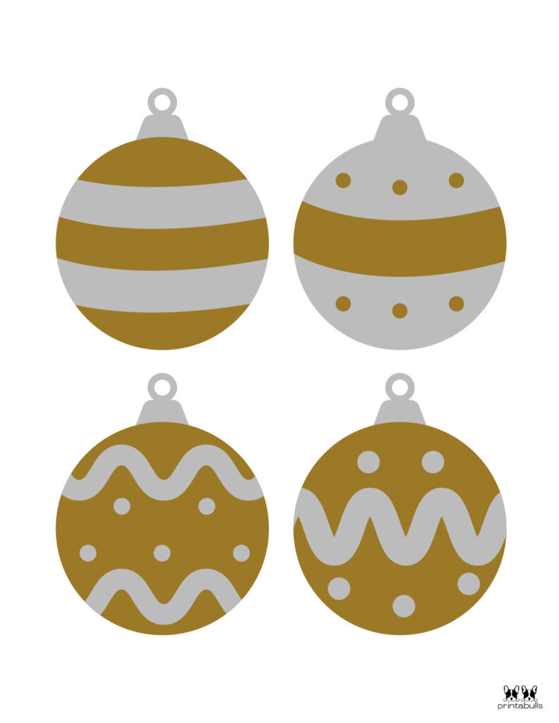 Printable Christmas Ornament-Set 1
