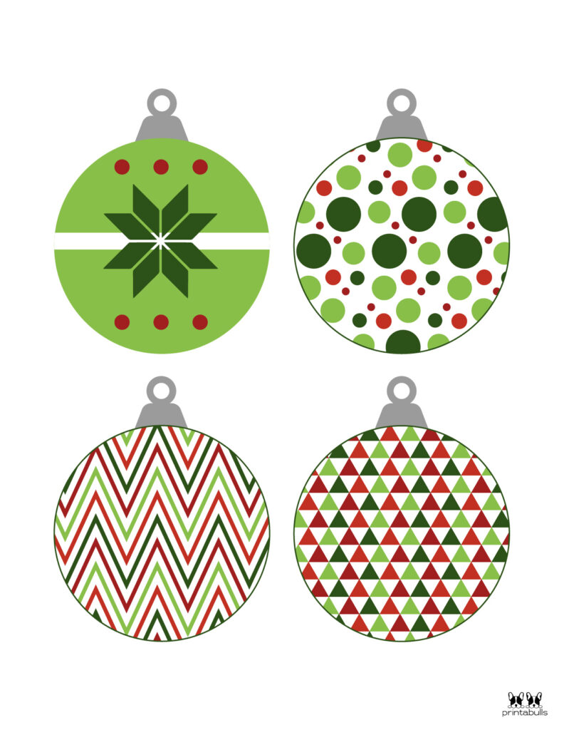 Printable Christmas Ornament-Set 10