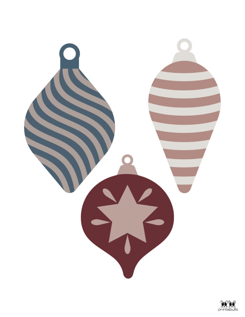 Printable Christmas Ornament-Set 11