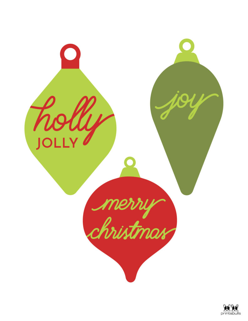 Printable Christmas Ornament-Set 14