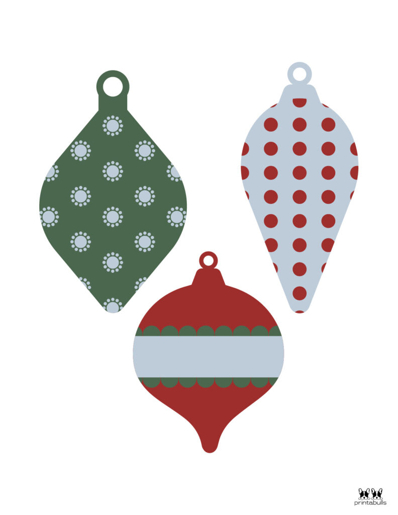Printable Christmas Ornament-Set 16