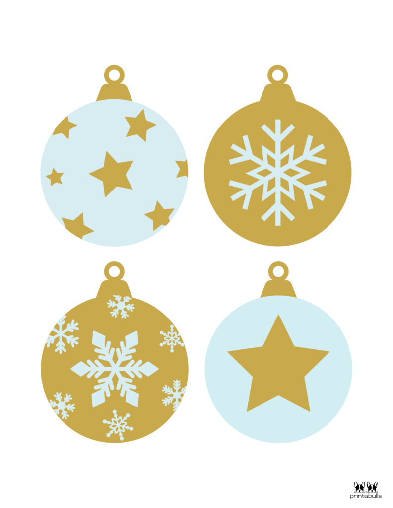 Printable Christmas Ornament-Set 2