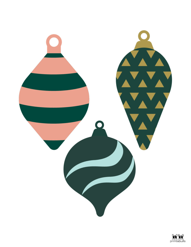 Printable Christmas Ornament-Set 20