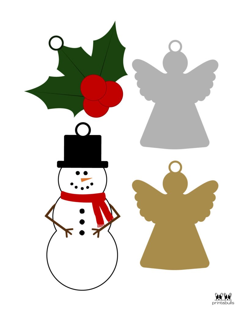 Printable Christmas Ornament-Set 28