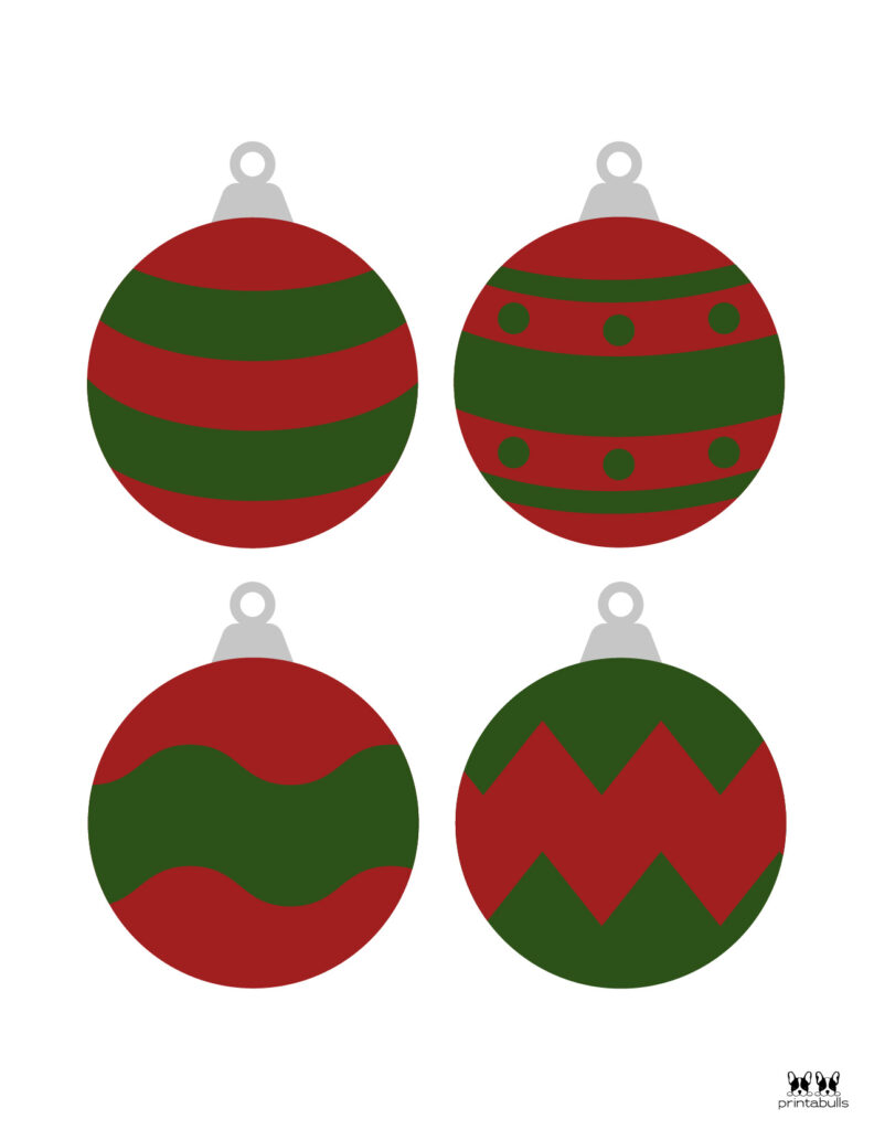 Printable Christmas Ornament-Set 3