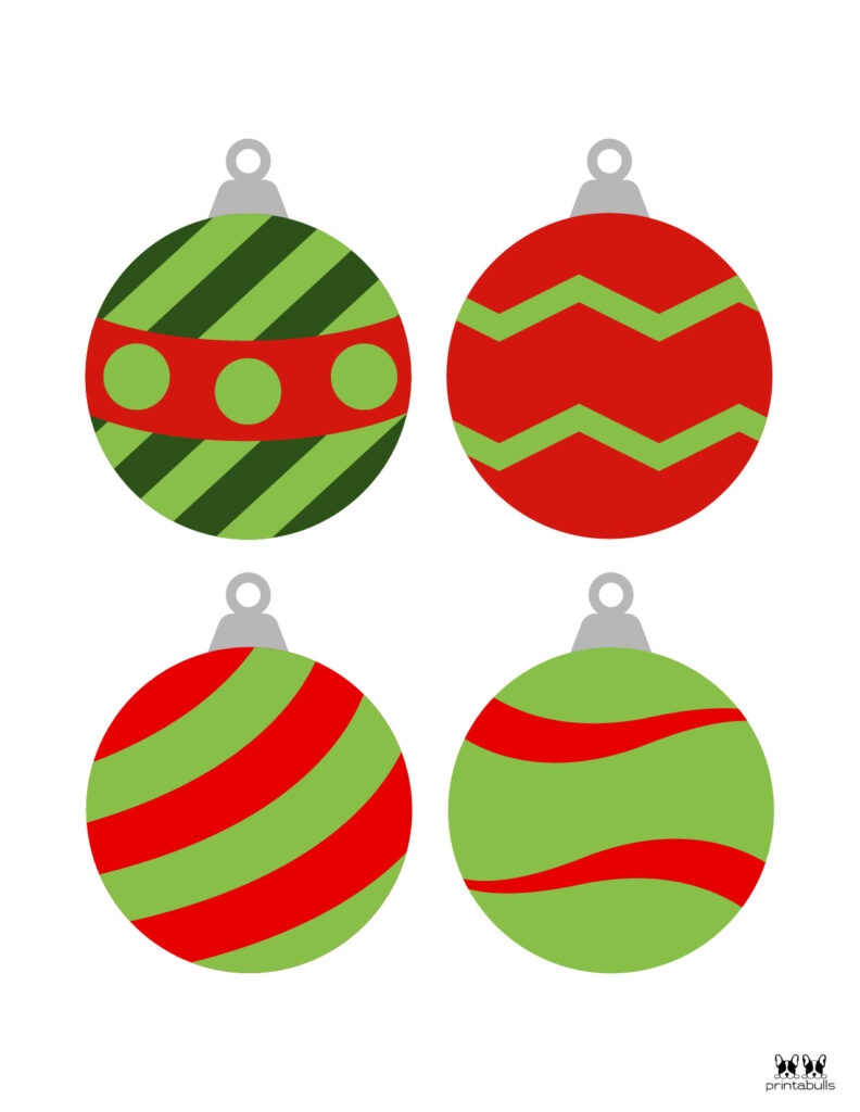 Printable Christmas Ornament-Set 4