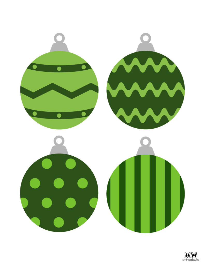 Printable Christmas Ornament-Set 5