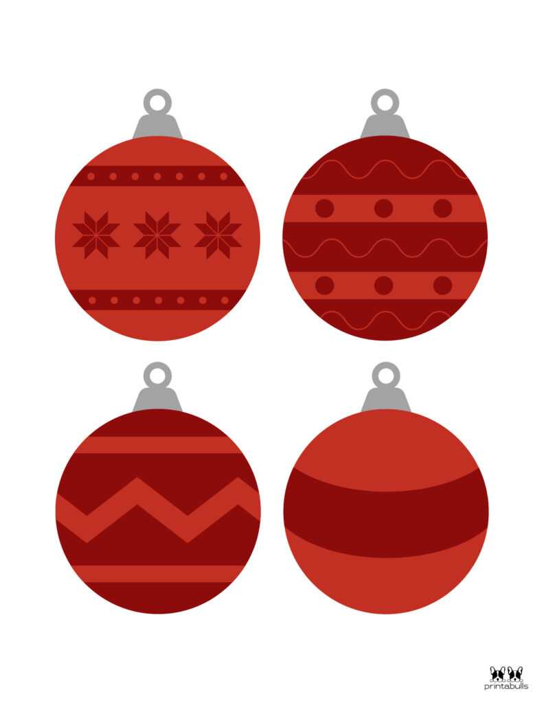 Printable Christmas Ornament-Set 6