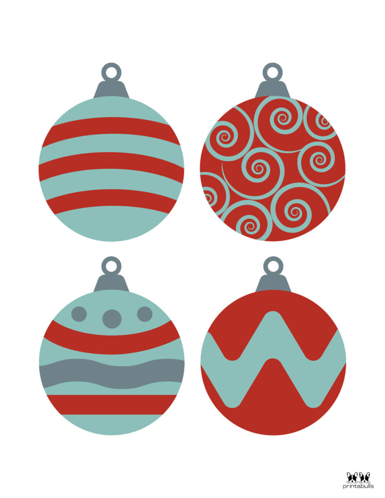 Printable Christmas Ornament-Set 7