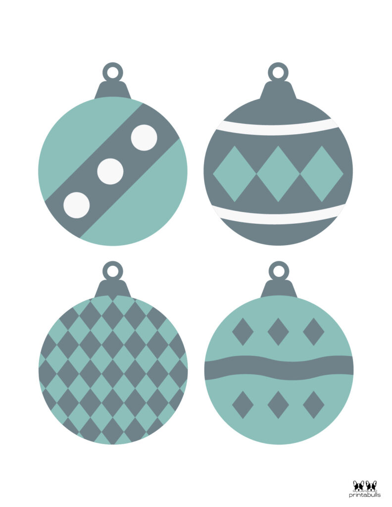 Printable Christmas Ornament-Set 8