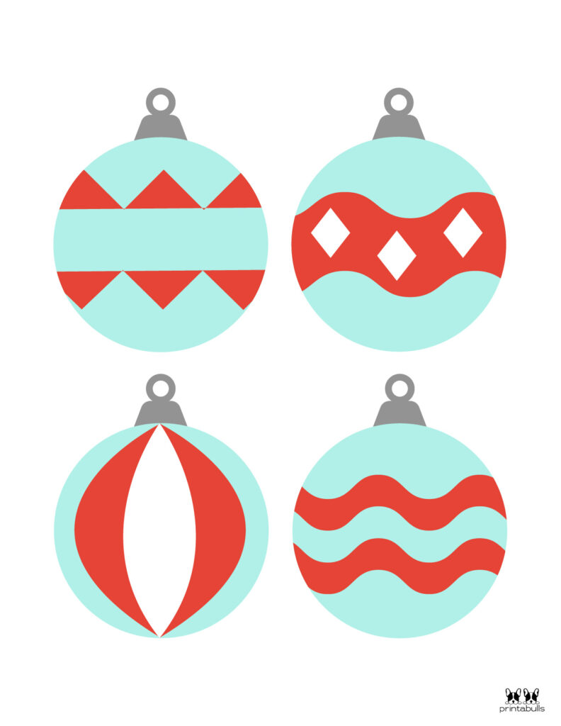 Printable Christmas Ornament-Set 9