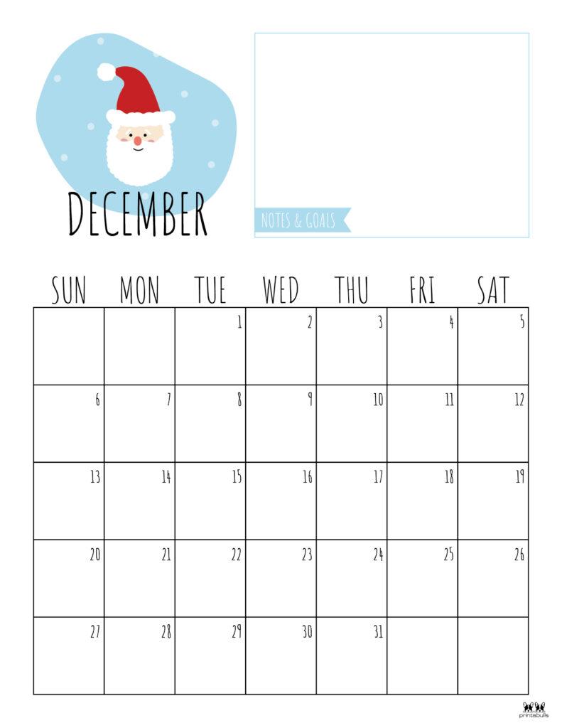 Printable December Calendar-Style 8