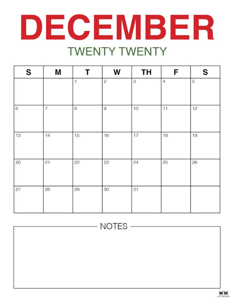Printable December Calendar-Style 9