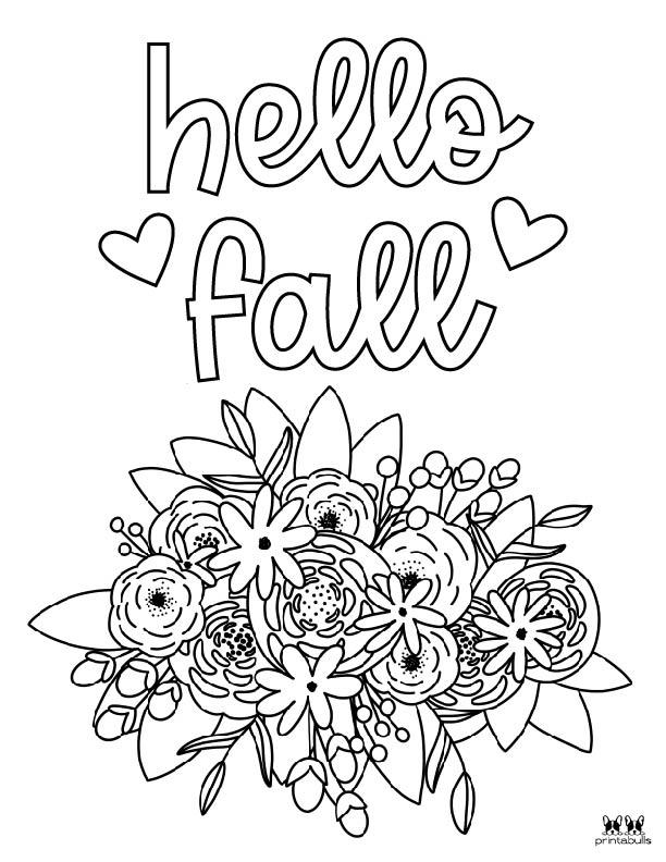 Printable November Coloring Page-Page 12