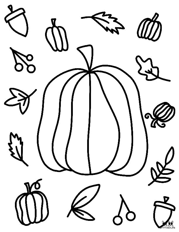 Printable November Coloring Page-Page 4